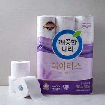 깨끗한나라 3겹아이리스화장지/촉앤감키친타올 sale