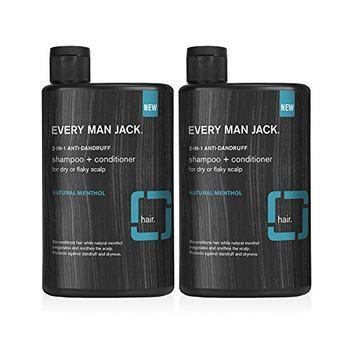 [해외] [Every Man Jack 2in1 Daily Shampoo Conditioner 13ounce Twin Pack 2 Bottles Included Naturally Derived]